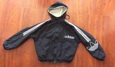Vintage Adidas Sport Hoodie Jacket Coat 1990's Black Large Men Women Hiphop