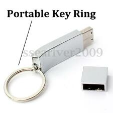 64GB USB 2.0 Silver Metal Flash Memory Stick Thumb Pen Drive Keychain Fashion
