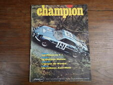 AUTOMOBILE MOTO : Revue CHAMPION No 48 (1969)