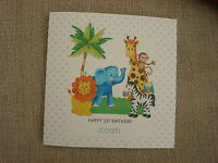 Personalised Handmade 1st, 2nd, 3rd, 4th, 5th Birthday Card - Boy