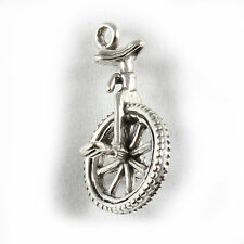 Unicycle Charm - 3D Sterling Silver Charms  Circus Bike