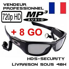 LUNETTE SOLEIL CAMERA MP3 SPORT HD 720P 8 GO ESPION 1280x720 SUNGLASSES