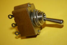 VINTAGE MILITARY QUALITY DOUBLE POLE CENTRE OFF TOGGLE SWITCH    fba36a