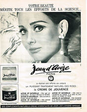 PUBLICITE   1965   JEAN D'AVEZE   cosmétiques creme de Jouvence