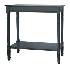 Pacific Distressed Black Pine Wood Oblong Console K/D 76-215