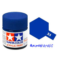 TAMIYA COLOR X-4 Blue MODEL KIT ACRYLIC PAINT 10ml Free Shipping New In Stock