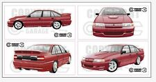 New! Collectable VN SS Group A Holden Commodore Large Sticker Set