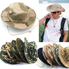 Unisex Sun Bucket Hat Boonie Hunting Fishing Outdoor Cap Wide Brim Military Hat