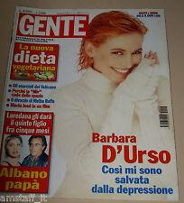 GENTE=2001/13=BARBARA D'URSO=ANTONIO BANDERAS=FOLLIERO=MASTROTA=ROCCA DI PAPA=