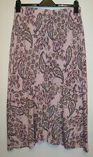 Kim & Co Double Flounce Asymmetric Paisley Print Skirt Pink Multi Size Large NWT