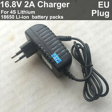 EU Plug AC/DC charger adapter 16.8V 2A 2000mA for Lithium Ion Battery Li-ion 4S