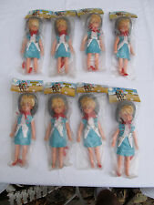 Lot (8) Vintage Calamity Jane Dolls Old Store Stock Hong Kong MIP