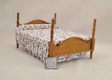 Double  Bed dollhouse miniature furniture 1/12 scale T6450 wood