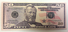WHOLESALE DEAL 12 PIECES THE NEWEST FIFTY 50.00 DOLLAR BILL WALLET BIFOLD CANVAS