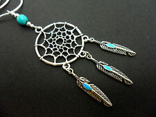 "A LOVELY TIBETAN SILVER  DREAMCATCHER NECKLACE ON 18"" SNAKE CHAIN. NEW."
