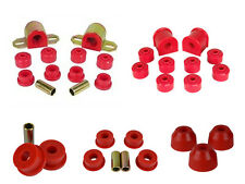 Jeep Grand ZJ Front / Rear Poly Swaybar Set Trackbar and Tie Rod Bushing Kit Red