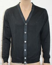 ☆ FRED PERRY Luxus Cardigan, Strickjacke Merinos extrafine 30322067 Gr.XXL ☆