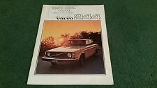 1976 VOLVO 240 244 SALOON DL GL - UK BROCHURE