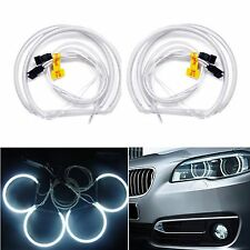 4PCS CCFL Angel Eye Halo Light LED Rings 6000K For BMW 3 SERIES E46 Bright White