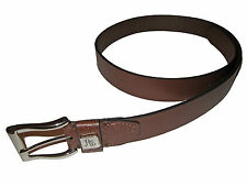 Robert Graham Brown Tooled Leather Silver Buckle Jeans Belt 38