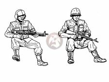 CMK 1/35 US Cavalry Door Gunners in UH-1 Helicopter Vietnam (2 Figures) F35171