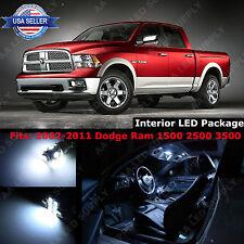 11x White LED Light Interior Package Deal For 2002-2011 Dodge Ram 1500 2500 3500