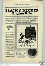 1926 PAPER AD Black & Decker Engine Kit Tool Box Car Automobile Auto Drill ++
