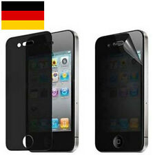 iPhone 4 4S Privacy Display Schutzfolie Blickschutz Antispy Screen Protector 4G