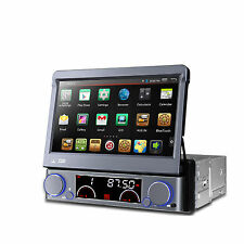 Quad Core Android 1DIN Car Radio DVD Player GPS Nav WiFi OBD2 Stereo Bluetooth