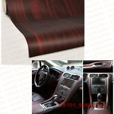 "12""x48"" Car SUV Interior DIY Wood Textured Grain Vinyl Wrap Sticker Decal Sheet"