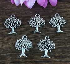 Wholesale 10pcs Tibet silver Tree Charm Pendant beaded Jewelry Findings DIY !!!