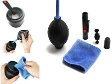 BUUS 3 in 1 Lens Cleaning Cleaner Dust Pen Blower Cloth Kit For DSLR VCR Camera