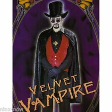 Elegant Count Dracula Vampire Men's Halloween fancy Dress Costume Set with HAT