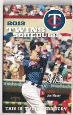 Minnesota Twins 2013 Schedule