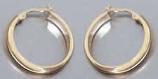 2,3 cm Goldcreolen 585 - klassische Creolen - Ohrringe - glatte Goldohrringe