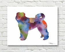 Bouvier Des Flandres Contemporary Watercolor Art Print by Artist Djr