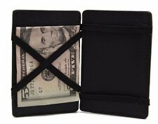 Genuine Leather Black Magic Wallet Student Window ID,Credit Card,Cash Holder