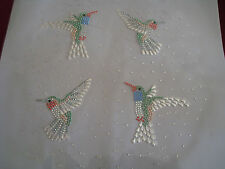 Rhinestone iron on Transfer DIY Hot fix Applique Hummingbird snowing Craft deco