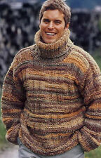 Men's Hand Knitted Turtleneck Sweater XS,S,M,L,XL,XXL,XXXL  Wool Hand Knit 3A