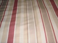 LAURA ASHLEY AWNING STRIPE CASSIS FABRIC 2.2 METRES
