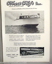 Correct Craft 27-ft. Express Cruiser Boat PRINT AD - 1948 ~~ delivery truck