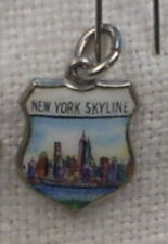 Vintage REU Sterling/Enamel New York City Skyline Travel/Bracelet Charm - NOS
