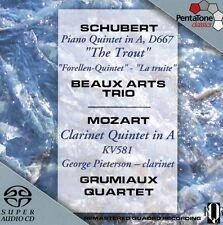 Schubert / Mozart - Trout Quintet / Clarinet Quintet [New SACD] Hybrid SACD