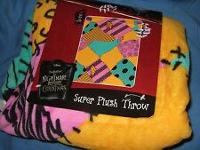NWT The Nightmare Before Christmas Sally Dress Print Disney Plush Throw Blanket