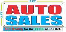 AUTO SALES Banner Sign NEW Larger Size Best Quality for the $$$