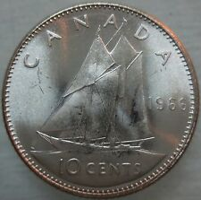 1966 Silver Canada/Canadian 10 Cent Coin Silver UNC FROM ORIGINAL ROLL