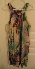 K STUDIO WOMEN'S SLEEVELESS POLY SPRING SUMMER DRESS SIZE 10 BEAD ACCENTS LINED
