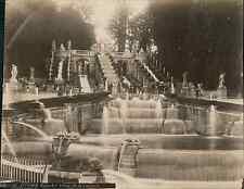 France, Saint Cloud. Grandes Eaux de la Cascade  Vintage albumen print.  Tirag