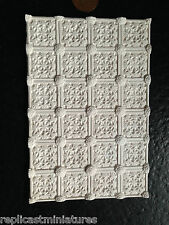 "MN33 Medallion SOFFITTO TASSELLO gesso (5,5 ""X3,75"") replicast Miniatures Dollshouse"