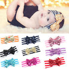 Cute Baby Girls Hair Band Sequined Bow Headband Turban Knot Hair Accessories HIF